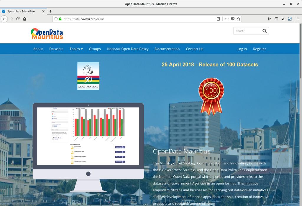 Open Data Portal - Mauritius